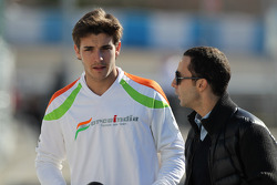 Jules Bianchi, Sahara Force India Formula One Team, test driver and Nicolas Todt, Drivers manager