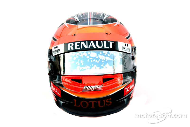 Romain Grosjean, Lotus Renault F1 Team helm