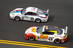 #59 Brumos Racing Porsche GT3: Andrew Davis, Hurley Haywood, Leh Keen, Marc Lieb, #43 Team Sahlen Mazda RX-8: Joe Nonnamaker