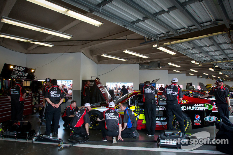 Hendrick Motorsports Chevrolet garage