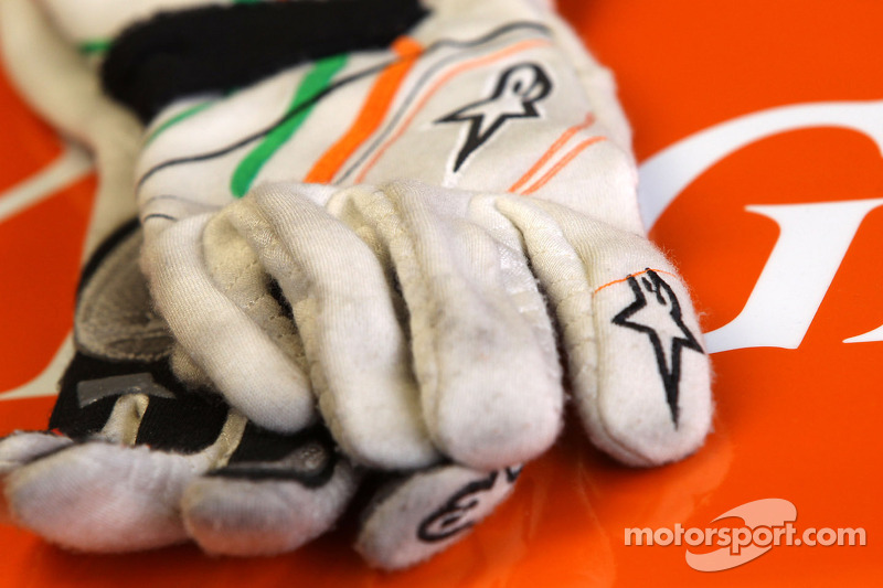 Handschoenen van Nico Hulkenberg, Sahara Force India Formula One Team