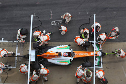 Parada de pits de Paul di Resta, Sahara Force India Formula One Team