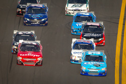 Tony Stewart, Richard Childress Racing Chevrolet leads the field