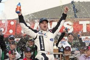 Victory lane: race winner Ricky Stenhouse, Jr.