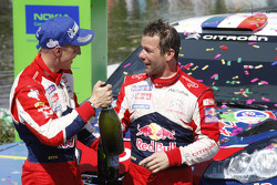Podium: winner Sébastien Loeb and Mikko Hirvonen, Citroën Total World Rally Team