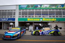 #21 Hitotsuyama Racing Audi R8 LMS and #38 Lexus Team Zent Cerumo Lexus SC430