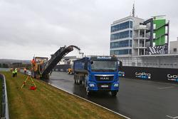 Trabajos de reparación en Sachsenring