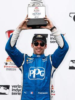 Podium: second place Simon Pagenaud, Team Penske Chevrolet