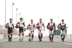 Marco Bezzecchi, CIP-Unicom Starker; Manuel Pagliani, CIP-Unicom Starker; Lorenzo Dalla Porta, Aspar Team; Albert Arenas, Aspar Team; Jakub Kornfeil, Peugeot MC Saxoprint; Patrik Pulkkinen, Peugeot MC Saxoprint