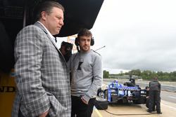 Zak Brown, McLaren CEO, Fernando Alonso