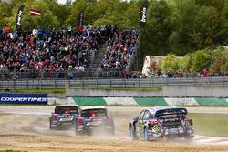 Petter Solberg, PSRX Volkswagen Sweden VW Polo Gti, Johan Kristoffersson, Volkswagen Team Sweden, Andreas Bakkerud, Hoonigan Racing Division Ford