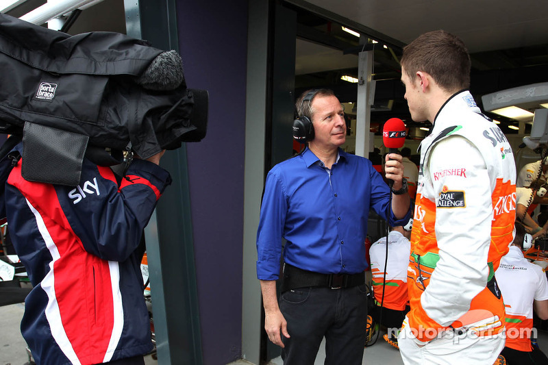 Martin Brundle, SKY TV and Paul di Resta, Sahara Force India Formula One Team