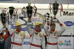 WEC LMP2 podium: first place Stéphane Sarrazin, Enzo Potolicchio, Ryan Dalziel