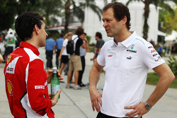 Andrea Stella, Ferrari Race Engineer with Aldo Costa, Mercedes GP Engineering Director