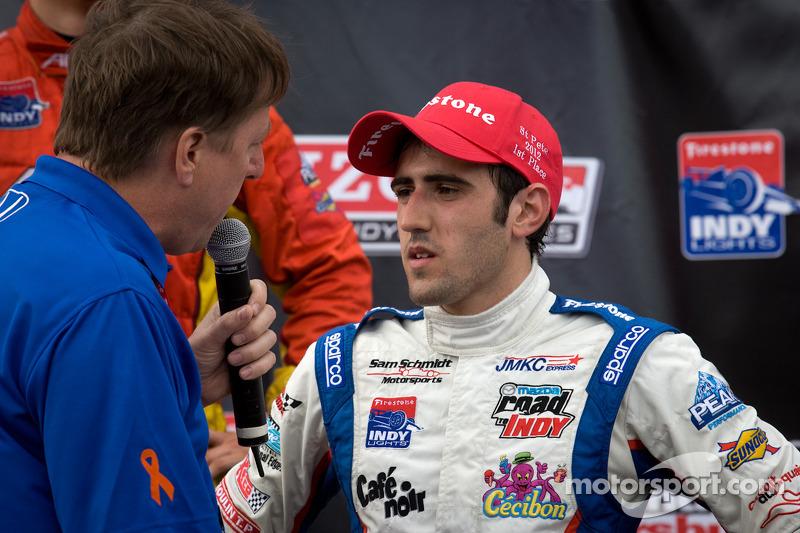 Podium: race winner Tristan Vautier, Sam Schmidt Motorsports