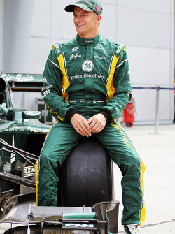 Heikki Kovalainen, Caterham  at a team photograph