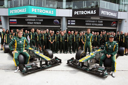 A team photograph for Caterham F1 Team