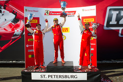 458CS podium: winner #007 Ferrari of Ontario 458CS: Robert Herjavec, second place #91 Ferrari of Ft Lauderdale 458CS: Guy Leclerc, third place #56 Ferrari of Ft Lauderdale 458CS: Jose Valera
