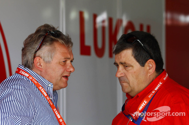 Evnegy Malinovskiy, Lukoil Marketing Director and Antonio Rodrigues, Team Manager Lukoil Racing Team