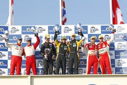 Podium: GTE-pro podium: winners James Walker, Jonny Cocker