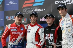Podium: Jack Harvey, Felix Serralles, Spike Goddard, Harry Tincknell