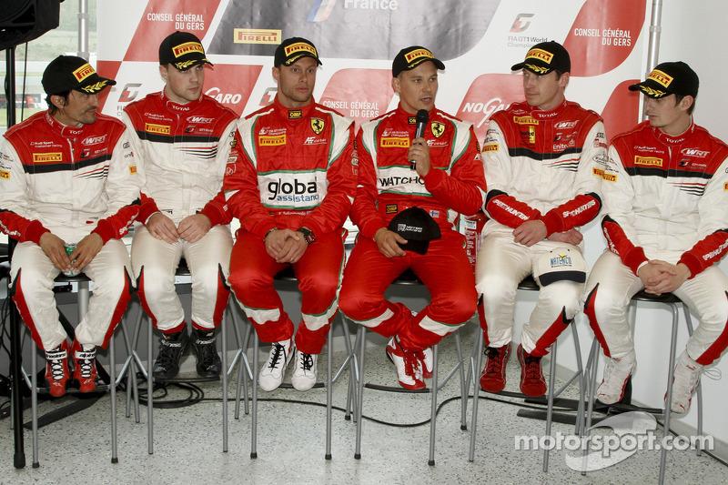 Stéphane Ortelli, Laurens Vanthoor, Filip Salaquarda, Toni Vilander, Frank Stippler, Oliver Jarvis