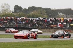 #3 AF Corse Ferrari 458 Italia GT3: Toni Vilander, Filip Salaquarda, #33 Belgian Audi Club Team WRT Audi R8 LMS: Frank Stippler, Oliver Jarvis