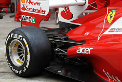 Ferrari F2012 exhaust and rear suspension detail