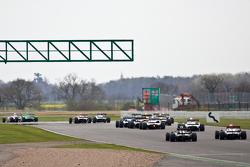 The F2 cars head towards becketts