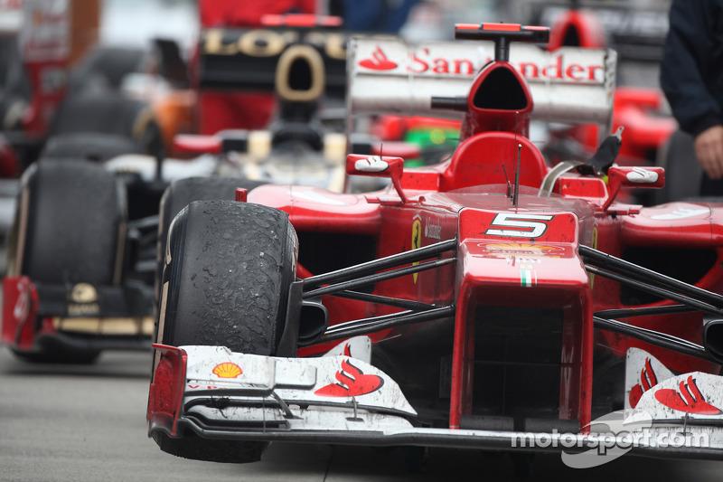 The car of Fernando Alonso, Scuderia Ferrari