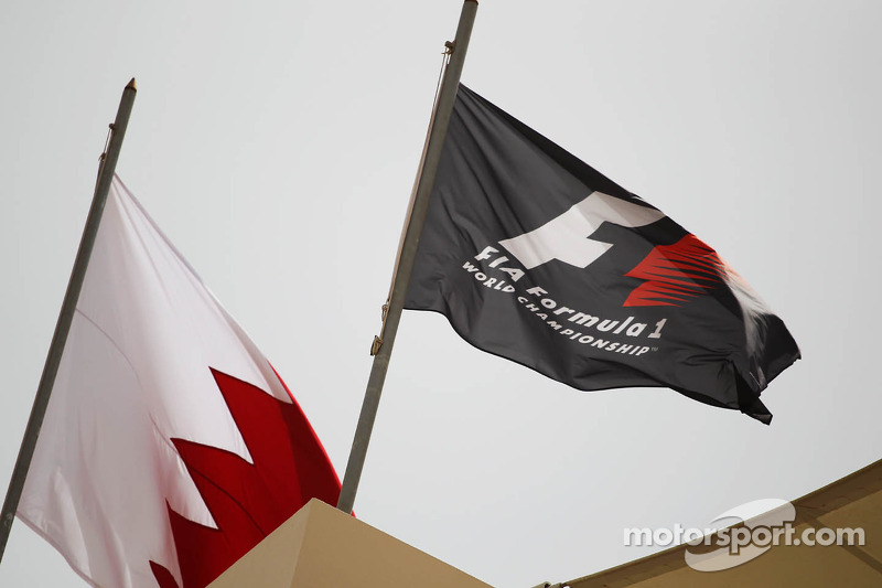 Bahrain and F1 flags