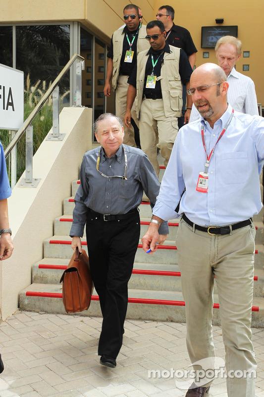 Jean Todt, FIA President, en Norman Howell, FIA Director of Communications
