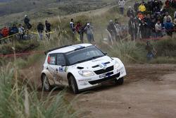 Andreas Mikkelsen and Ola Floene, Skoda Fabia S2000, Volkswagen Motorsport