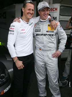 Michael Schumacher with brother Ralf Schumacher