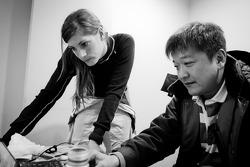 Cyndie Allemann and Yukinori Taniguchi