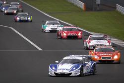 Pace lap: #32 Nakajima Racing Honda HSV-010 GT: Ryo Michigami, Yuki Nakayama