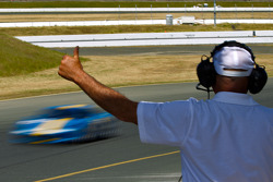 Corner Worker at end of Ferrari Challenge Race #2