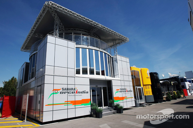 Sahara Force India F1 Team motorhome