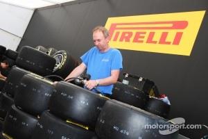 Pirelli tyre working area