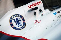 Chelsea Football Club badge on the Sauber F1 Team C31