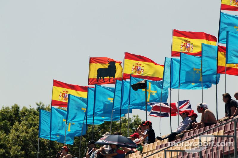 Vlaggen voor Fernando Alonso, Ferrari