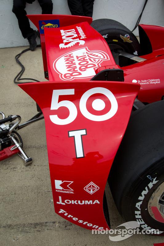 Achtervleugel Dario Franchitti, Target Chip Ganassi Racing Honda