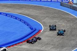 Adam Carroll, Jaguar Racing, leads Nelson Piquet Jr., NEXTEV TCR Formula E Team