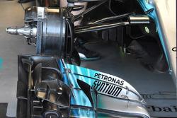 Mercedes AMG F1 W08, dettaglio anteriore