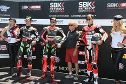 Tom Sykes, Kawasaki Racing, Jonathan Rea, Kawasaki Racing, Chaz Davies, Ducati Team, Kenny Roberts