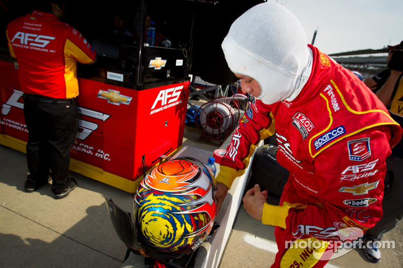 Snelste rijder van de dag Sebastian Saavedra, AFS Racing/Andretti Autosport Chevrolet