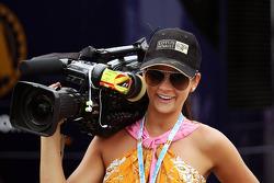 Glamorous camera woman