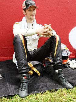 Romain Grosjean, Lotus F1 Team on the grid