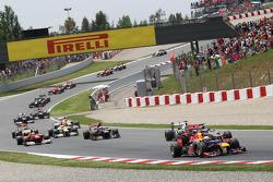 Sebastian Vettel, Red Bull Racing at the start of the race