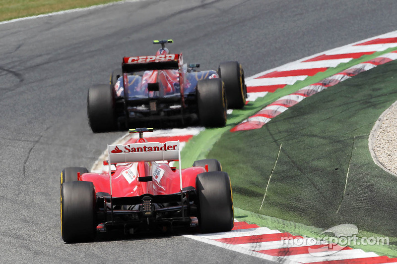 Jean-Eric Vergne, Scuderia Toro Rosso en Felipe Massa, Scuderia Ferrari